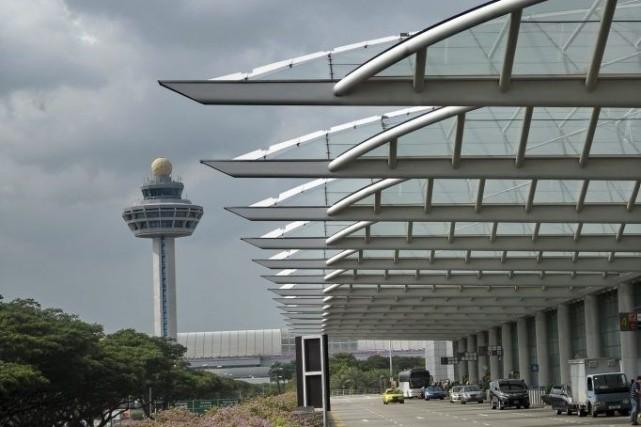Même l'aéroport de Singapour-Changi - considéré comme l'un... (Photo: archives AFP)