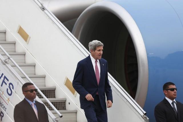 John Kerry est arrivé en Inde mercredi pour... (PHOTO ADNAN ABIDI, REUTERS)