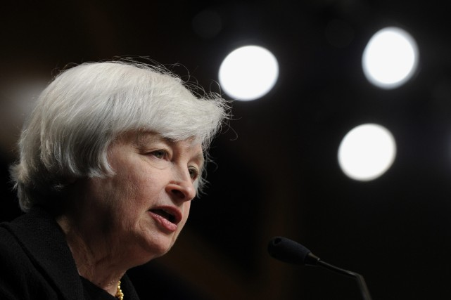 Janet Yellen, présidente de la FED... (Photo Susan Walsh, AP)