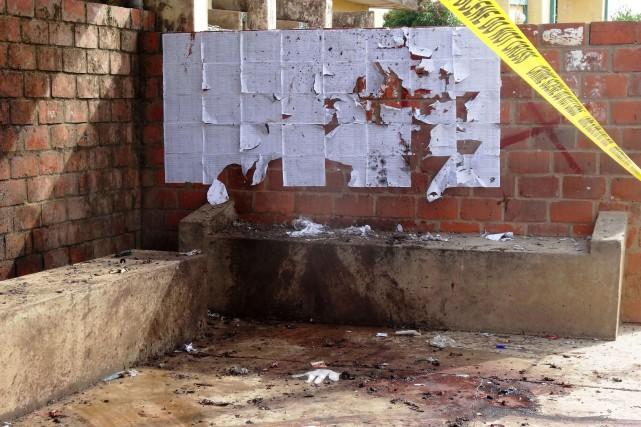 Une kamikaze s'est fait exploser sur le campus... (PHOTO AMINU ABUBAKAR, AFP)