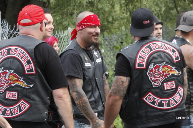 Une nouvelle section du groupe de motards des... (Photo Simon Séguin-Bertrand, Le Droit)