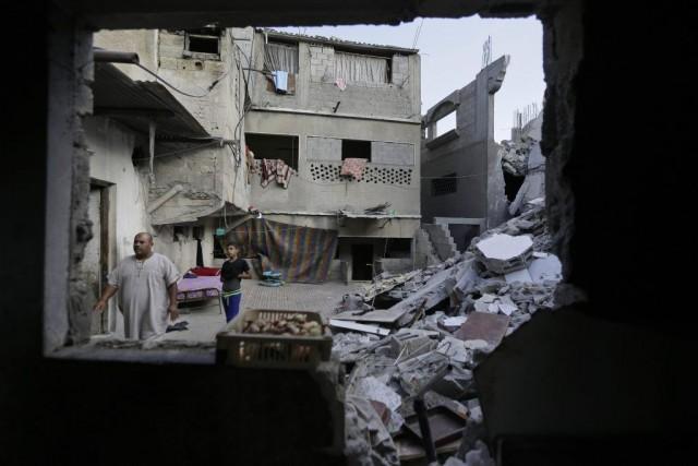 Près de 120 Palestiniens ont perdu la vie... (Photo Lefteris Pitarakis, AP)
