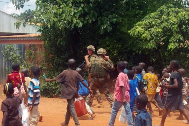Depuis la mi-juin, les soldats de la force... (PHOTO PACOME PABANDJI, ARCHIVES AFP)