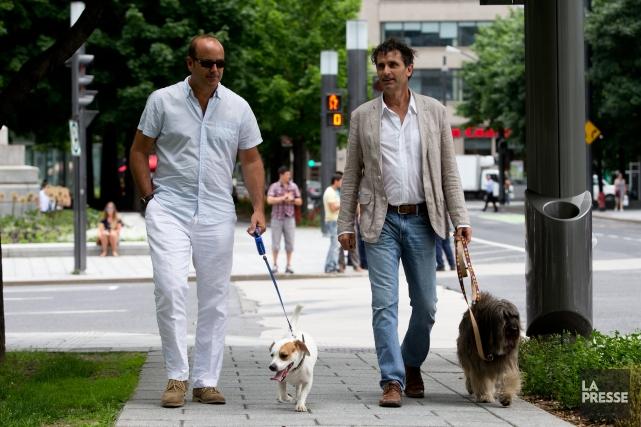 Les promoteurs Bryan McNichol (à gauche) et Raffaele... (Photo Olivier Pontbriand, La Presse)