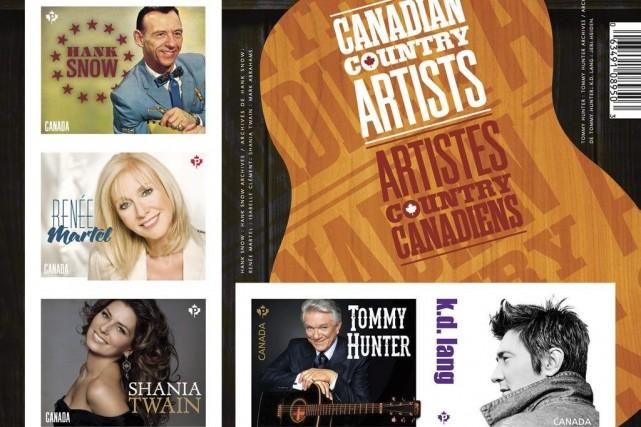 Postes Canada a émis jeudi cinq nouveaux timbres rendant hommage à des... (Photo: CNW)