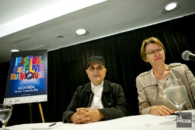 Le président du FFM Serge Losique et la... (PHOTO MARCO CAMPANOZZI, LA PRESSE)