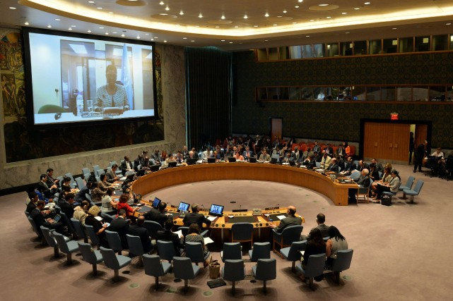 La brève déclaration du Conseil a été faite... (PHOTO STAN HONDA, AFP)
