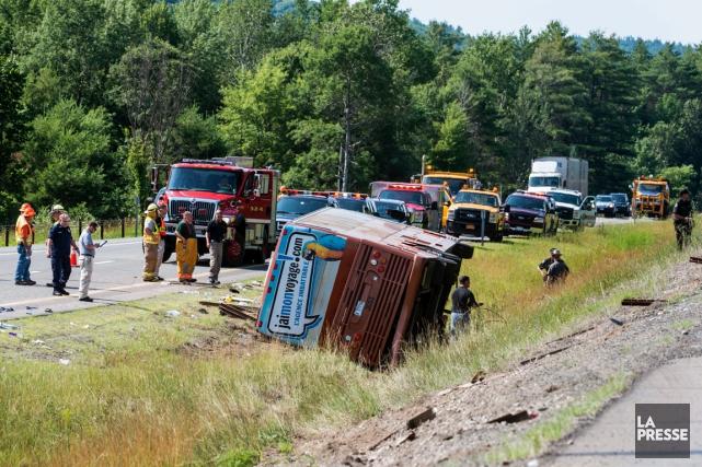 L'accident d'autocar, survenu le 18 juillet près de... (Photothèque La Presse)