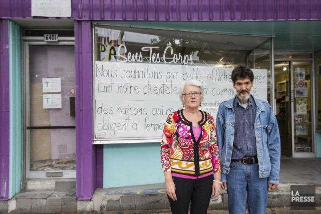 Les propriétaires du magasin Sens tes corps, Brigitte... (PHOTO EDOUARD PLANTE-FRÉCHETTE, LA PRESSE)