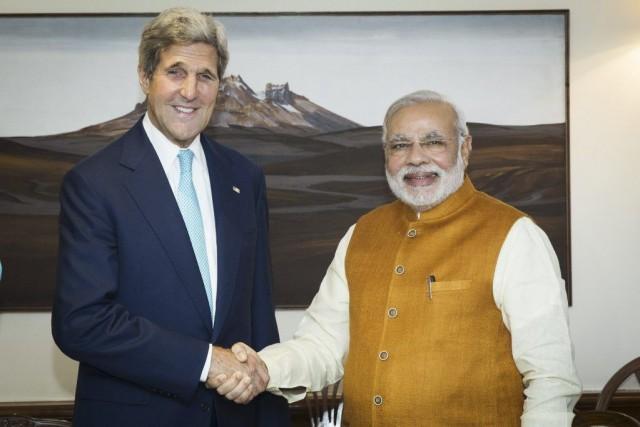 Le secrétaire d'État américain John Kerry, en visite... (PHOTO LUCAS JACKSON, AFP)