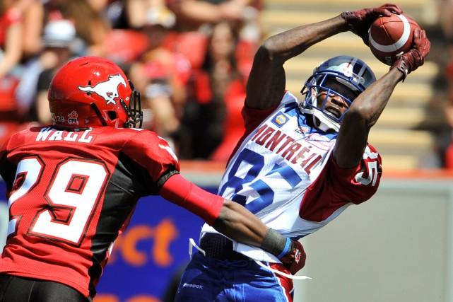 Chad Johnson a capté seulement trois passes en... (Photo Mike Sturk, Reuters)