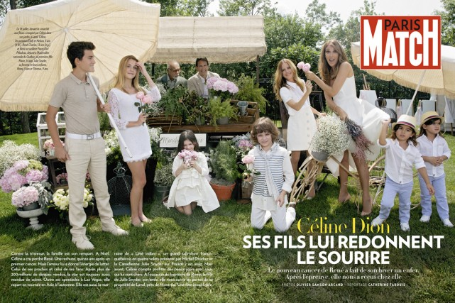 La photo de la famille de Céline Dion... (Photo: fournie par Paris Match)