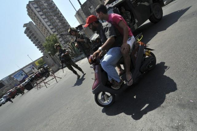Les forces de l'ordre ont effectué ces dernières... (PHOTO IBRAHIM CHALHOUB, AFP)