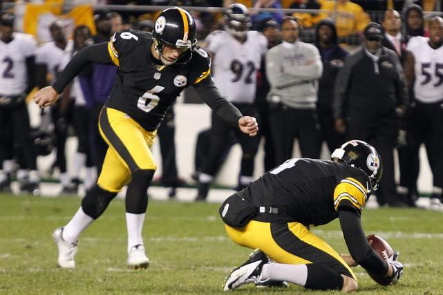 Le botteur des Steelers de Pittsburgh, Shaun Suisham.... (Photo Charles LeClaire, USA Today)