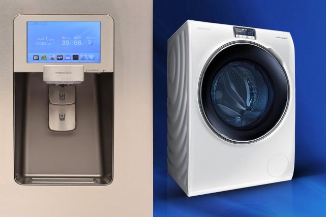 Si le réfrigérateur «branché» offre quelques atouts attrayants... (Photos fournie par Samsung)
