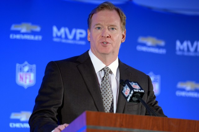 Le commissaire de la NFL, Roger Goodell.... (Photo Kirby Lee, USA Today)