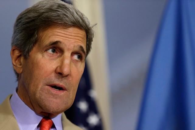 Le secrétaire d'État américain John Kerry.... (Photo Gary Cameron, archives Reuters)