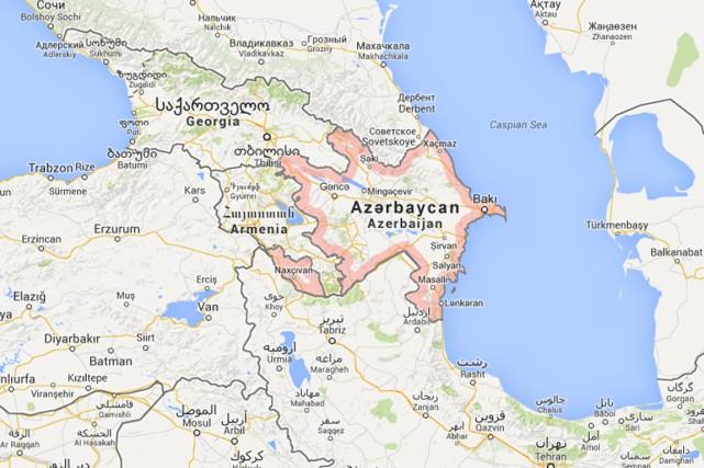 Huit soldats azerbaïdjanais ont été tués cette semaine dans des accrochages... (IMAGE TIRÉE DE GOOGLE MAPS)