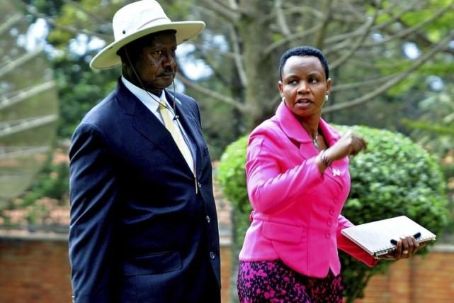Le président ougandais Yoweri Museveni, qui quitte Kampala... (PHOTO PETER BUSOMOKE, AFP)