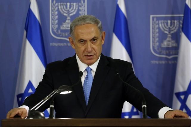 Le chef du gouvernement israélien Benyamin Nétanyahou a... (PHOTO GALI TIBBON, AFP)