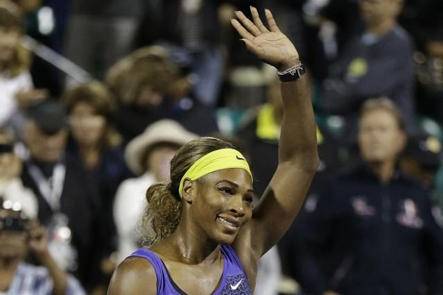Serena Williams disputera sa quatrième finale de la saison dimanche à Stanford... (Photo Jeff Chiu, AP)
