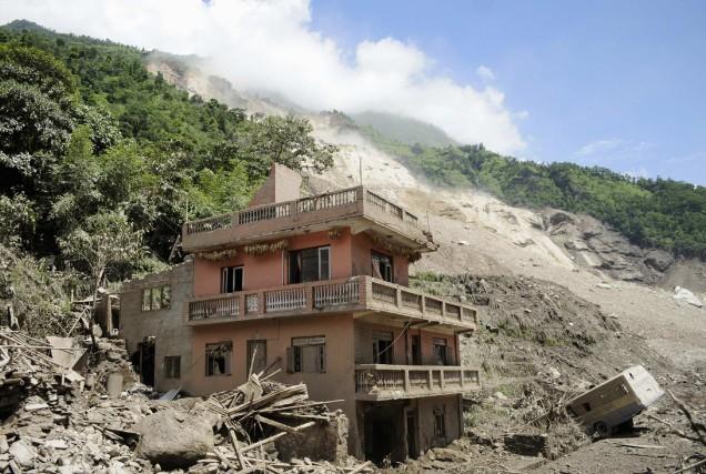 Plus de 160 personnes vivaient dans les quelques... (Photo REUTERS)