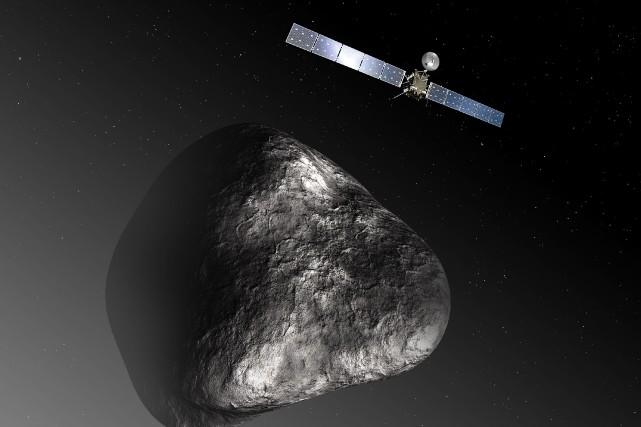 Aucun véhicule spatial avant Rosetta ne s'est mis... (Photo C. CARREAU / MEDIALAB, AFP)