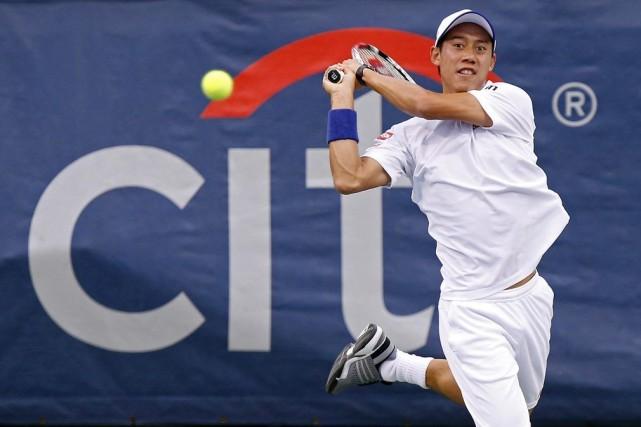 Nishikori est le premier Japonais à atteindre le... (PHOTO GEOFF BURKE, USA TODAY)
