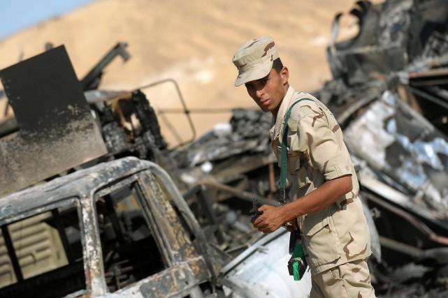 Onze «terroristes» ont été tués dans des affrontements avec l'armée égyptienne... (Photo AFP)