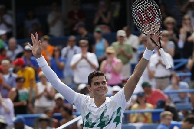 Milos Raonic a remporté le tournoi de Washington,... (PHOTO GEOFF BURKE, USA TODAY)