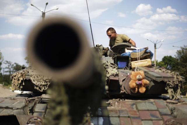 Donetsk, dont la population atteignait un million d'habitants... (Photo ANATOLII STEPANOV, AFP)