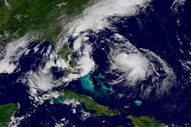 Bertha deuxième ouragan de la saison dans l'Atlantique,... (PHOTO AGENCE FRANCE-PRESSE, NOAA)