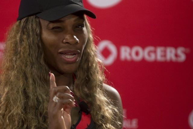Serena Williams en conférence de presse la Coupe... (Olivier Jean)