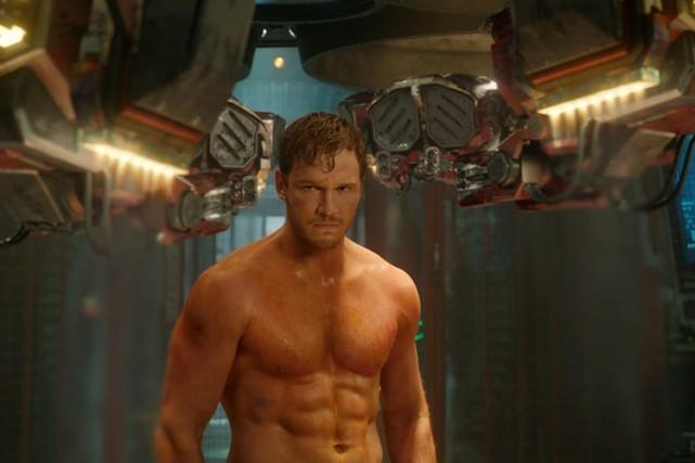 Chris Pratt dans une scène de Guardians of... (Disney)