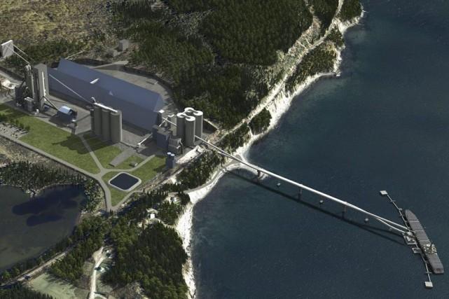 LafargeCanada veut que la cimenterie McInnis, à Port-DanielGascons,... (ILLUSTRATION ARCHIVES CNW/CIMENT MCINNIS)