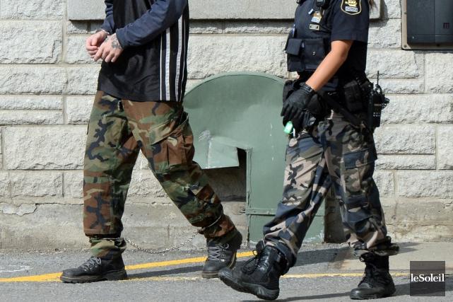 Les policiers du Québec promettent un automne chaud au gouvernement libéral. (Photo Erick Labbé, Le Soleil)