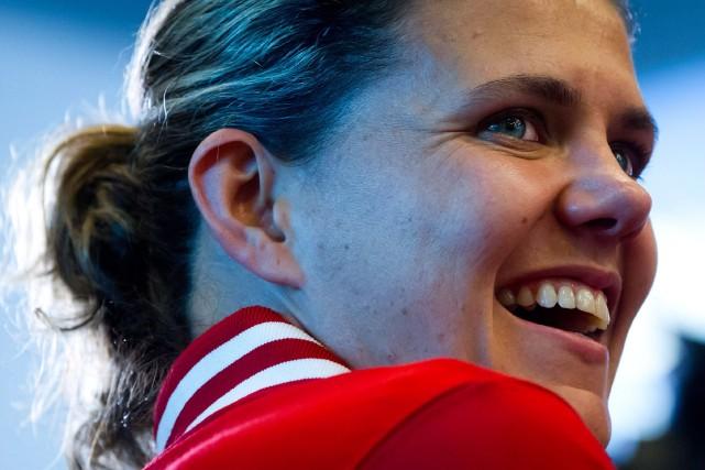 Christine Sinclair s'est d'abord fait remarqué 10 ans... (Photo archives La Presse Canadienne)