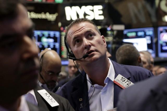 La Bourse de New York a terminé en... (Photo Richard Drew, archives AP)