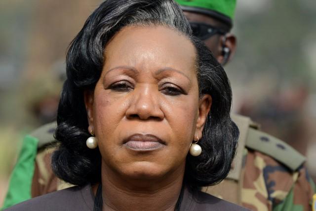 la présidenteCatherine Samba Panza... (PHOTO ISSOUF SANOGO, ARCHIVES AFP)