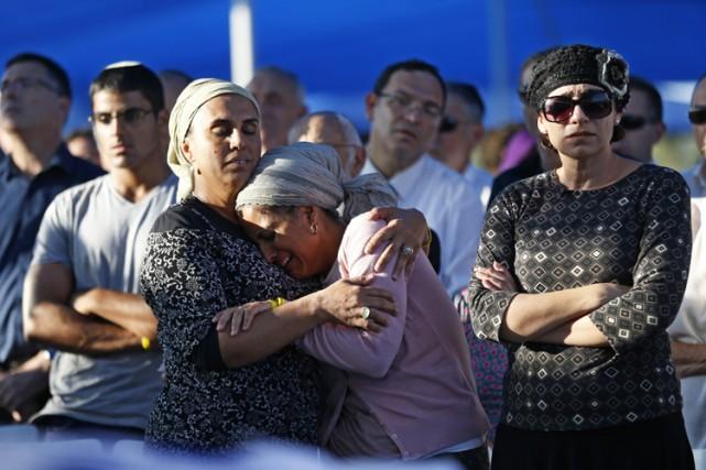 Enterrement près de Ramallah le 1er juillet dernier... (Photo: AFP)