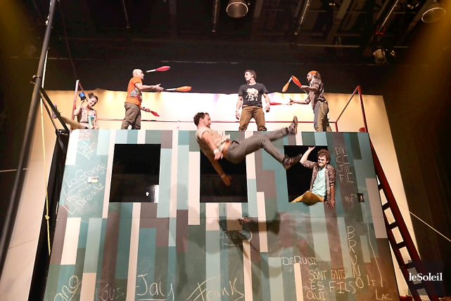 Les acrobates de Flip Fabrique... (Photothèque Le Soleil)