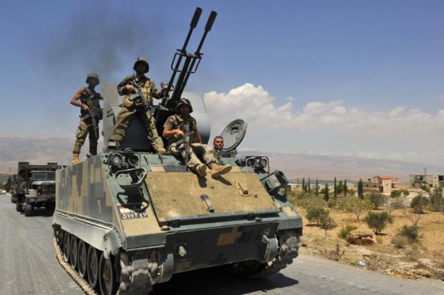 Depuis samedi, 16 militaires libanais, dont deux officiers,... (Photo: Reuters)
