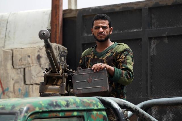 Cinq soldats yéménites ont été tués mercredi dans une embuscade à Chabwa,... (Photo MOHAMMED HUWAIS, AFP)