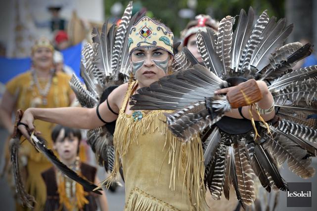 Une Amérindienne... (Le Soleil, Pascal Ratthé)