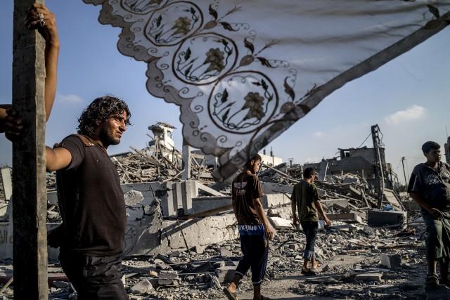 Malgré la menace d'expiration de la trêve, la... (Photo MARCO LONGARI, AFP)