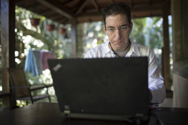 Glenn Greenwald, journaliste qui a dévoilé des renseignements... (PHOTO Jimmy Chalk, ARCHIVES The New York Times)
