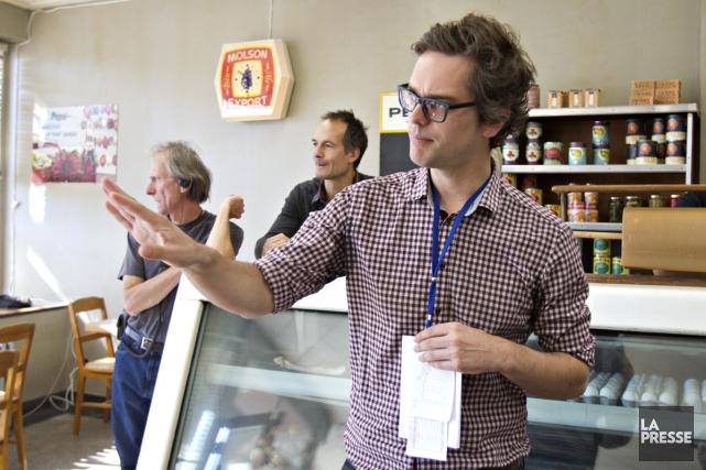 Le réalisateur Mathieu Denis sur le plateau de... (Photo: Olivier Jean, archives La Presse)