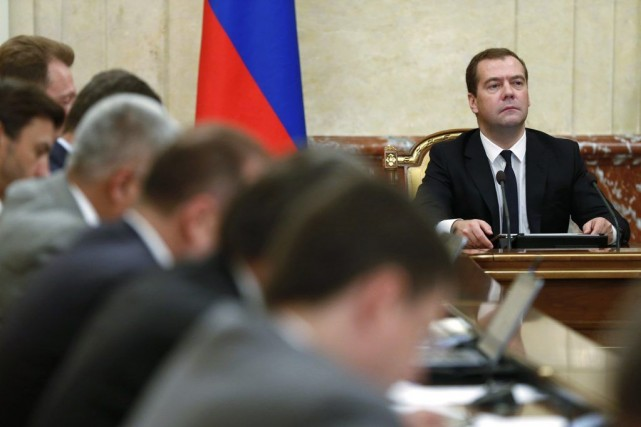Le premier ministre russe Dmitri Medvedev a précisé... (PHOTO DMITRY ASTAKHOV, ASSOCIATED PRESS)