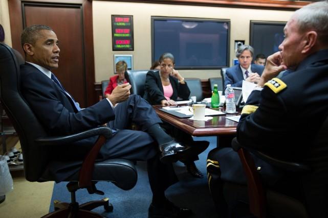 Le président américain Barack Obama... (Photo fournie pas la Maison-Blanche)