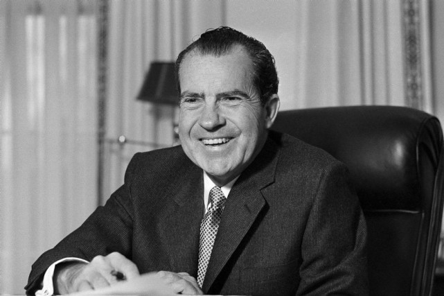 Richard Nixon... (PHOTO ARCHIVES ASSOCIATED PRESS)